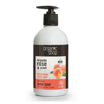 Organic Shop Rose Peach Kosteuttava Käsisaippua